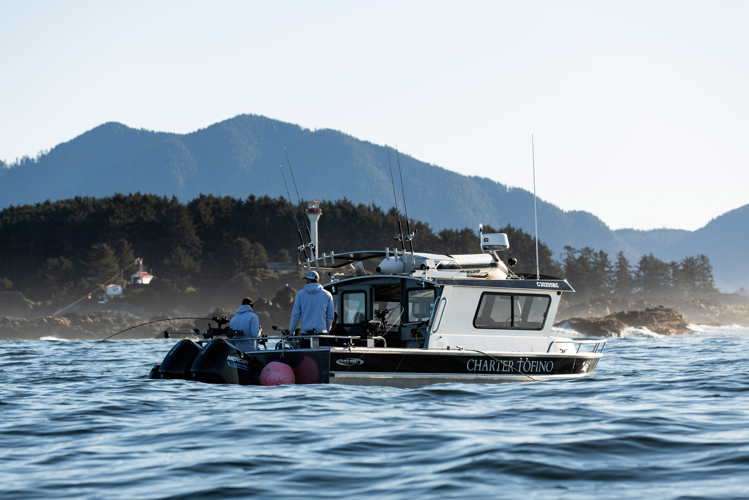 Charter Tofino's Sea-Wolf fishing vessel looking for Tuna, Halibut & Salmon. Exciting new rates are available for the 2021 fishing season!