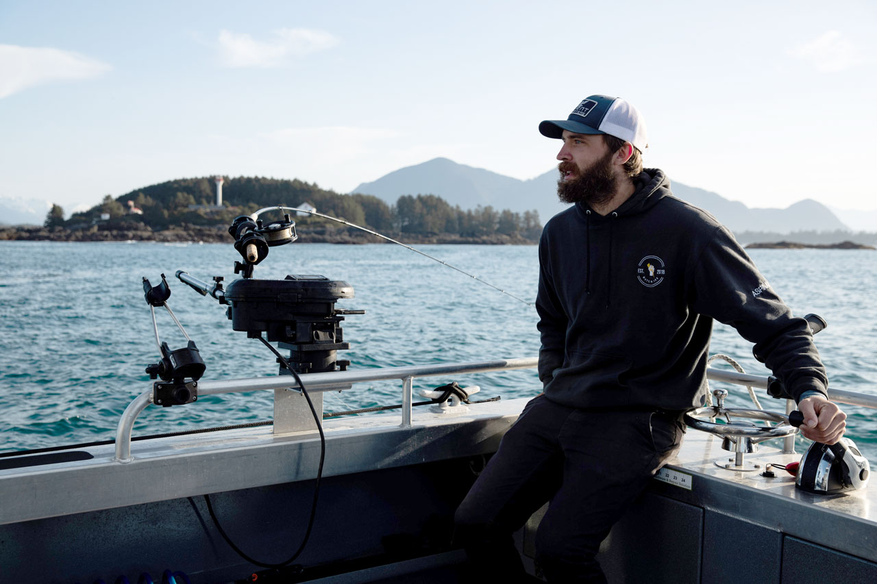 Charter Tofino guide and captain Kelly Aspinall